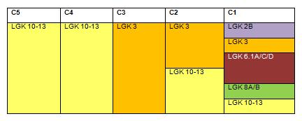 Lagerplan als Teil des Einlagerungsplan (Muster)